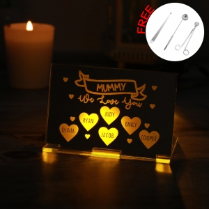 Personalized Candle Holder with Candle Snuffer