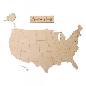 Wooden Marking Map USA