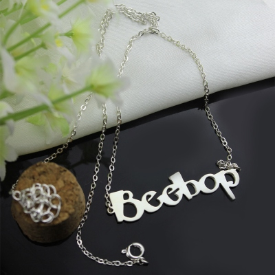Sterling Silver Personalized Dazzling Letter Name Necklace