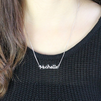 Sterling Silver Graceful Handwriting Name Necklace