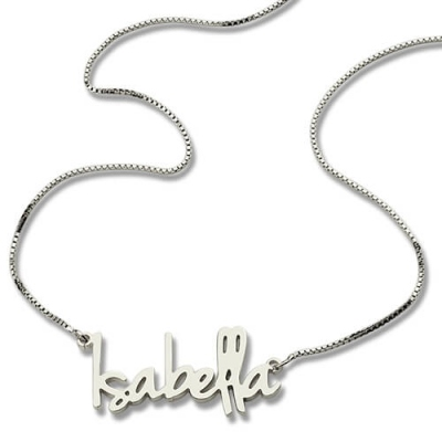 Sterling Silver Twinkling Small Name Necklace For Her