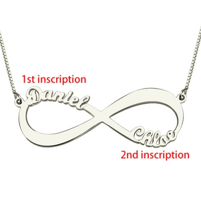 Refined Personalized Infinity Symbol Double Name Necklace