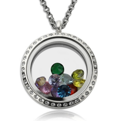 Magnificent Stainless Steel for Mom Birthstone Floating Locket