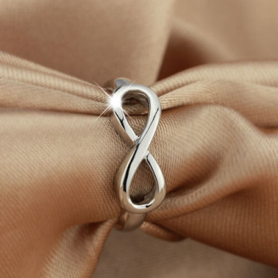 Sterling Silver Exuberant Engravable Infinity Symbol Ring
