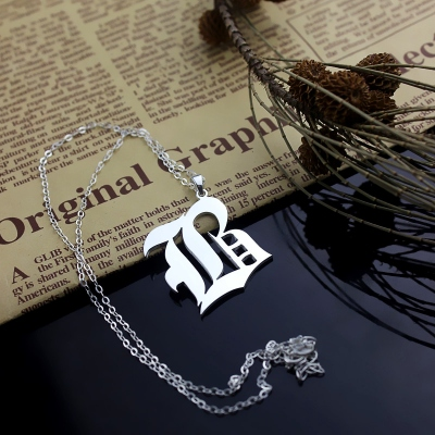 Remarkable Sterling Silver Personalized Initial Old English Letter Charm