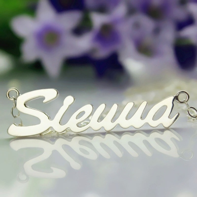 Incredible Sterling Silver Sienna Style Name Necklace