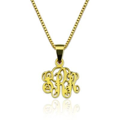 Gold Plated Silver Delicate Personalized XS Monogram Necklace