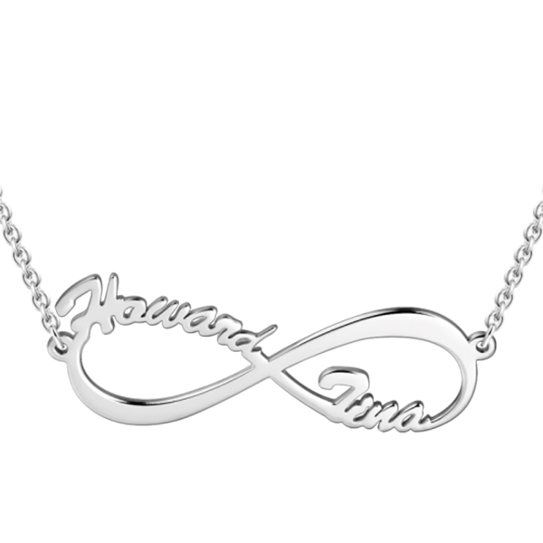 a1e80971594cc Personalized Infinity Double Name Necklace 925 Sterling Silver