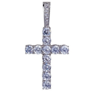 Iced Out CZ Cross Pendant Necklace