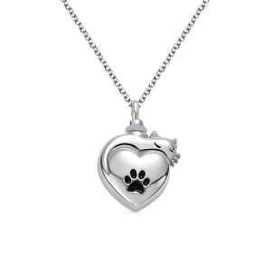 Engraved Pet Urn Cremation Necklace Sterling Silver