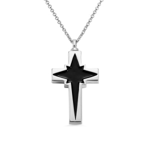 Personalized Cross-Shaped Urn Cremation Necklace
