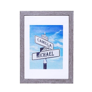 Anniversary Gift Personalized Intersection of Love Photo Print