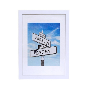 Personalized Road Sign Photo Print Frame