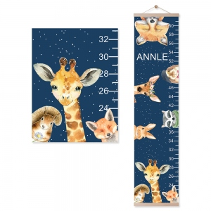 Customized Name Animals Growth Chart