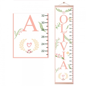 Personalized Flower Growth Chart with Name