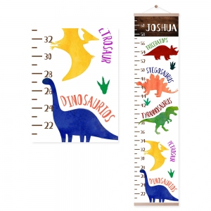 Personalized Dinosaur Name Growth Chart