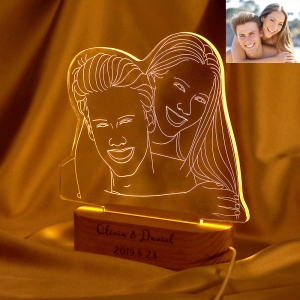 Personalized Photo Night Light Gift