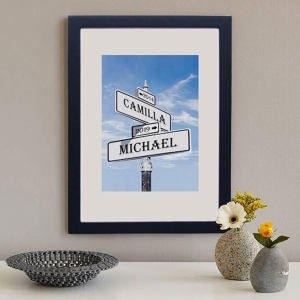 Customized Street Sign Love Intersection Print Photo Frame