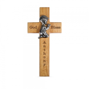 Bless This Child Personalized Wood Cross