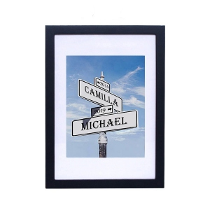Customized Street Sign Photo Print Frame for Anniversary Gift