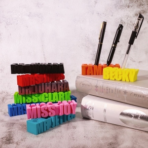 3D Printed Pen Holder with Personalized Words of Choice