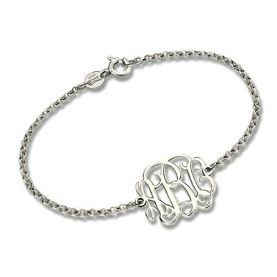 Sterling Silver Ingenious Custom Him/Her Monogram Bracelet