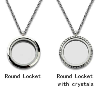 Glorious Round 'Key to My Heart' With Birthstone Floating Locket