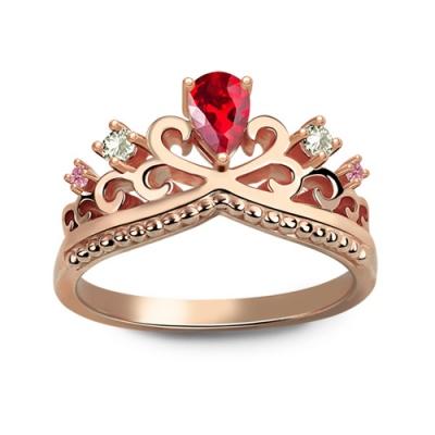 Gorgeous Rose Gold Romantic Birthstone Princess Crown