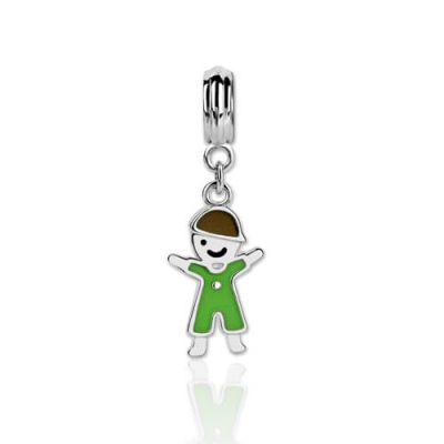 Sterling Silver 925 Lovable Kid Charm