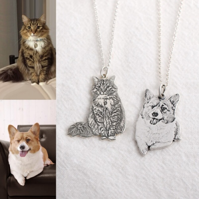 Precious Personalized Pet Memorial Photo Necklace