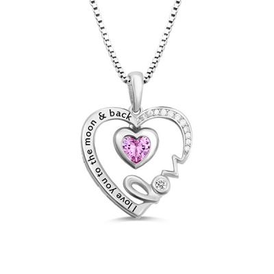 Glaring Personalized I Love You To The Moon And Back Necklace
