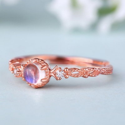 Sterling Silver Gorgeous Natural Gemstone Halo Ring Size Adjustable 6-9