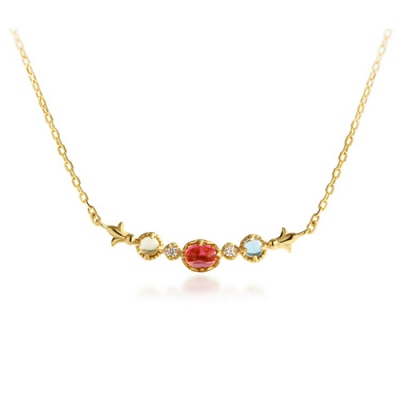 Attractive Red Tourmaline Necklace For Women 18