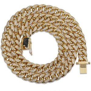 Men's Iced Out CZ Cuban Link Chain