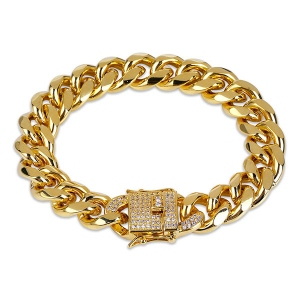 Cuban Link Iced Clasp Bracelet