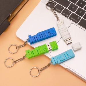 Personalized 3D Print Name USB Keychain 16GB/32GB/64GB
