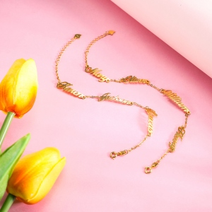 Personalized 1-4 Names Bracelet in Gold