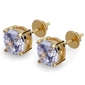 Round Cubic Zirconia Eearrings for Women