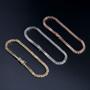 Iced Zircon Tennis Chain Bracelet