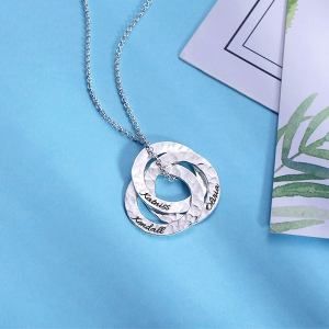 silver necklace for new mom