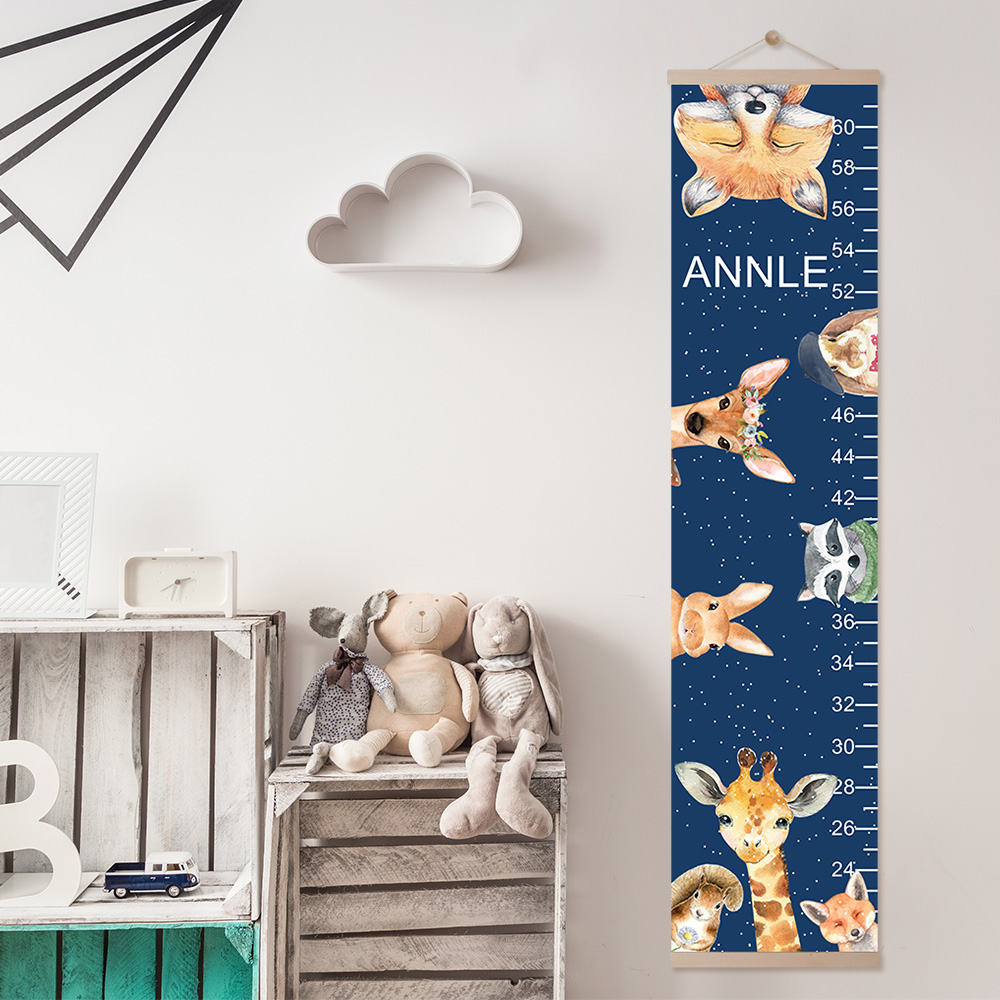Personalized Name Animals Growth Chart