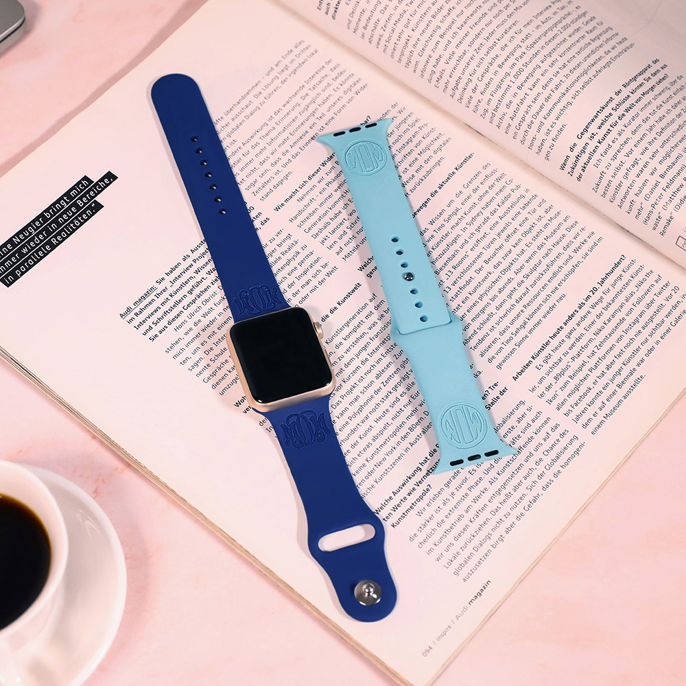 Personalized Silicone Watch Band for Apple Watch