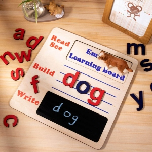 Kids' Learning Board with Moveable Alphabet Wooden Toys