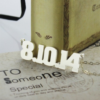 Splendid Sterling Silver Number Name Necklace