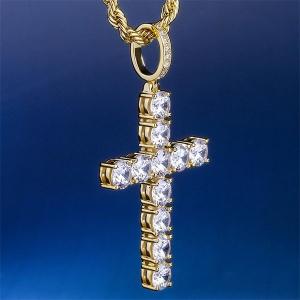 Cubic Zirconia Cross Pendant