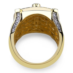 Masonic Hip Hop Ring in Gold
