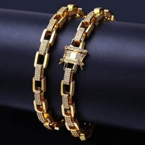 Hip Hop CZ Box Chain For Men