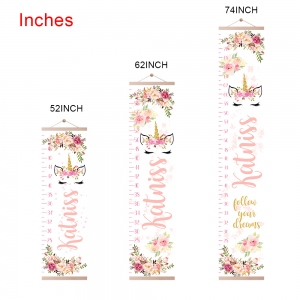 Customized Unicorn Growth Chart with Name