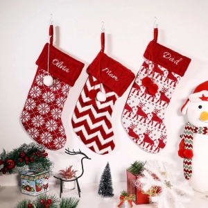 Personalized Christmas Embroidered Family Stocking