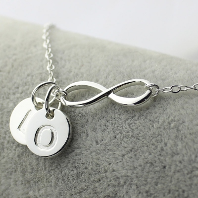 Resplendent Custom Infinity Initial Necklace: for Sisters or Friends